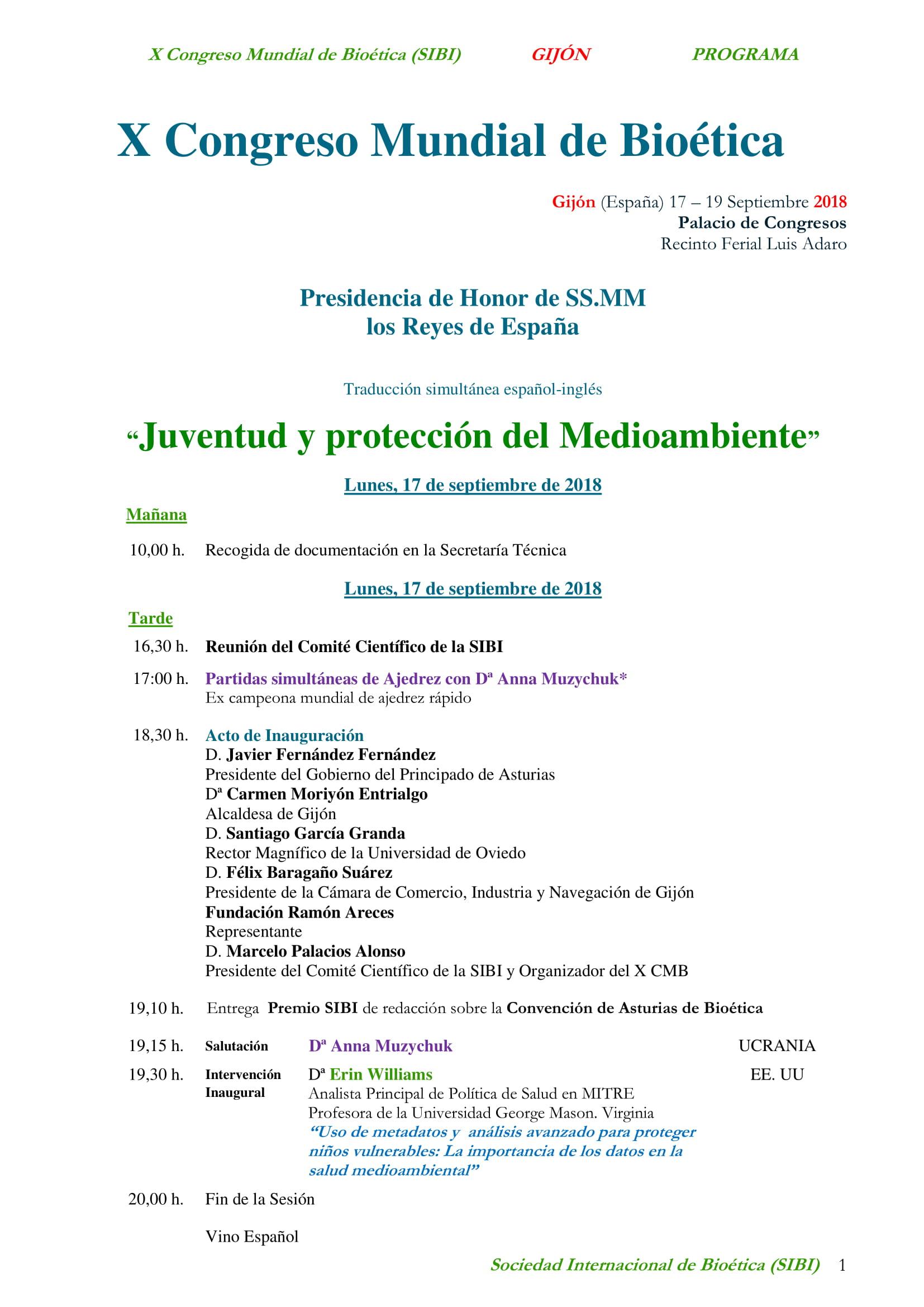 programa congreso bioetica